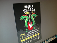 Flyer for Double Dragon Rock Show