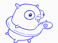 Golang Gopher Ready for a Safe Swim