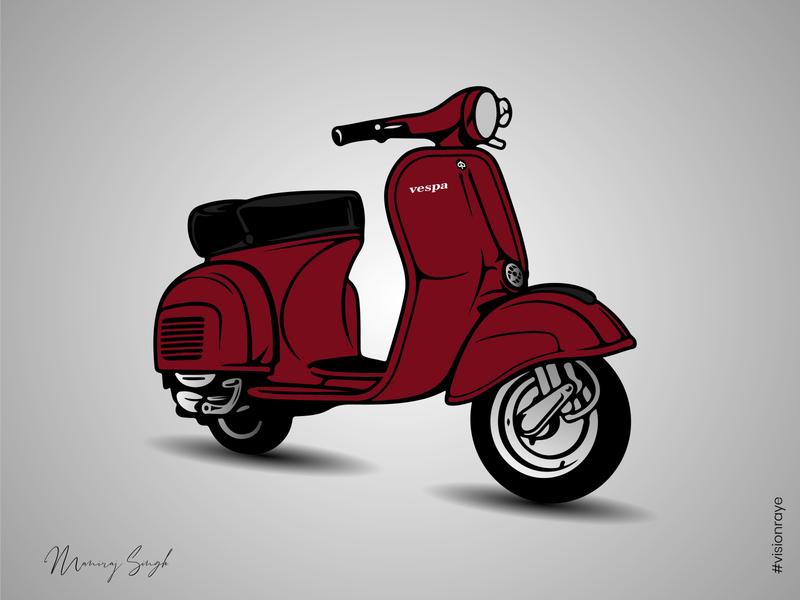 Scooter Vespa adobe illustrator graphic illustration illustrator graphicdesign