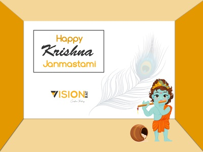 krishna Janmastami blog design blog post branding illustrator graphicdesign