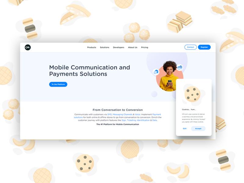 Localized Cookie Illustrations illustration ux ui branding web design gdpr cookie popup cookie policy cookies website design website web design