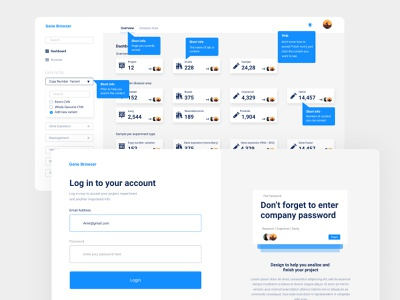 Login and overview page web design design uidesign ui