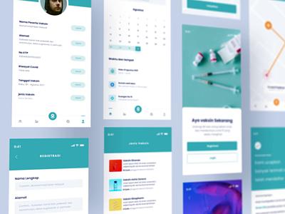 Corona Vaccine UI Mobile App motion graphics app design web design design uidesign ui