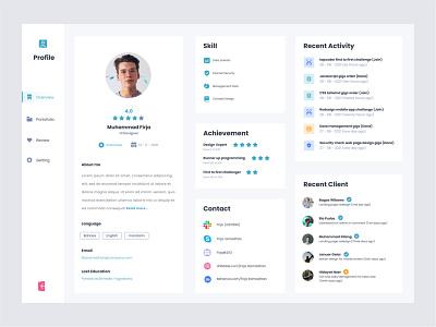 Crowdsourcing Web Profile Page web design design uidesign ui