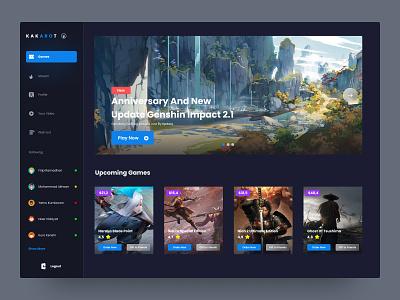Kakarot -  Gaming Store Desktop App app design web design design uidesign ui