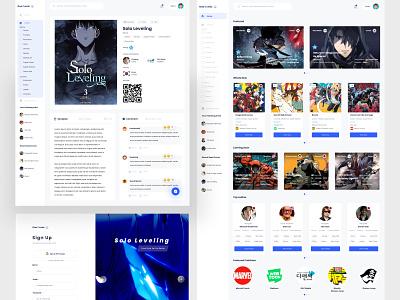 One Comic - Web App For Reading Comic web design design uidesign ui