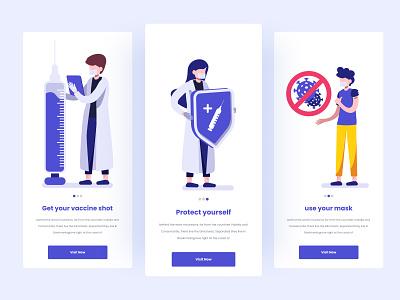 Yuk Vaksin - Splash Screen Mobile App illustration motion graphics app design design uidesign ui