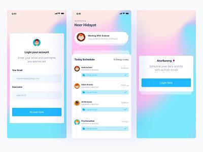 AturBareng -  Schedule Mobile App app design design uidesign ui