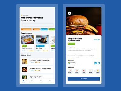 O' Snack Order -  Order Food Mobile App app design design uidesign ui