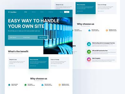 HostMan - Web Hosting service landing page web design design uidesign ui