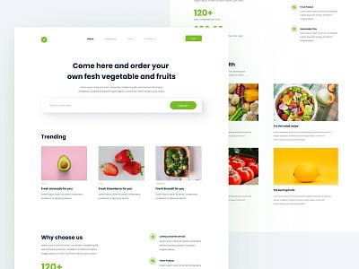 VegeFruits - vegetable and fruits ordering website web design design uidesign ui