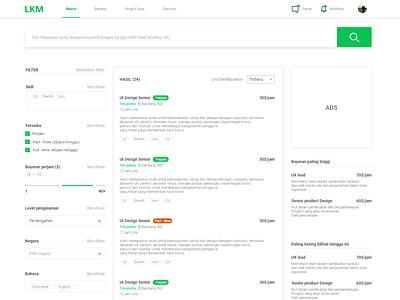 Job search UI web design design uidesign