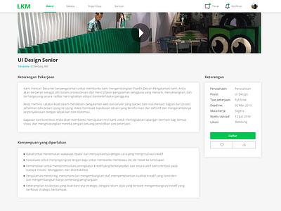 Job search UI Part 2 web design design ui uidesign