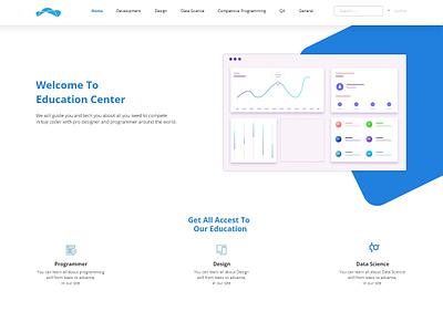 Home Page Education Center design web design uidesign ui