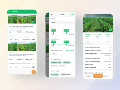 AgriTech App Rent Land uidesign uiux mobile app design mobile design mobile ui mobile app ux ui mobile ios app ios design app ux app ui app design app android design android app design android app android