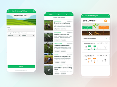 AgriTech App Farming Videos & Soil Analysis uiux ux ui mobile design mobile app design mobile app mobile ui mobile ios app design ios app ios design app ux app ui app design app android design android app design android app android