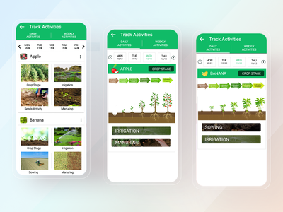 AgriTech App Track Activities uiux ux ui mobile app design mobile design mobile ui mobile app mobile ios app design ios app ios design app ux app ui app design app android design android app design android app android
