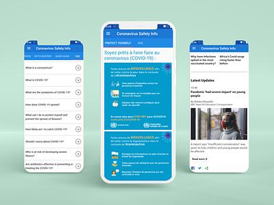 COVID Safety App Misc Info Screens design app ui app design app android design android app design android app android