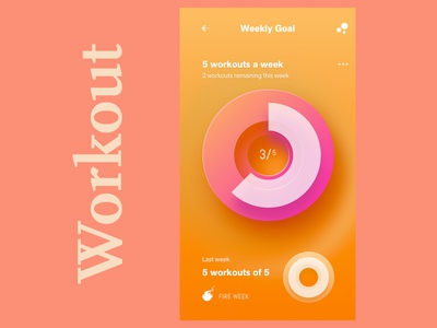 Workout Page workout tracker workout app daily ui illustration ux ui guides grid design thinking graphic design dailyui typography design