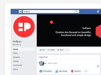 Facebook cover for halfpica typography facebook cover banner social facebook web design