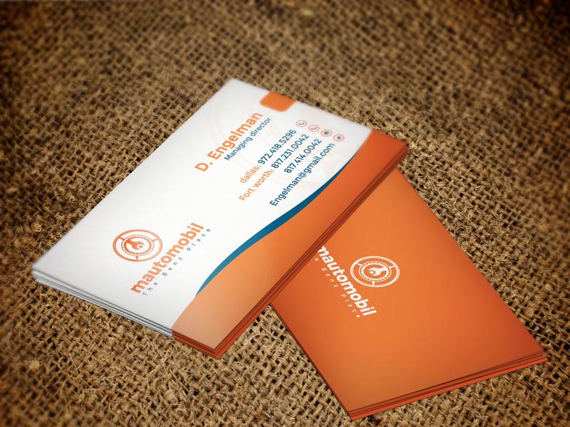 Best Business Card By Istiak Ahmed Shawon Dribbble Dribbble