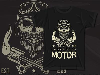 Skull Motor T-Shirt design