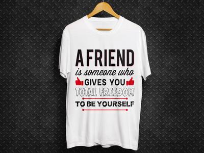 Friendship Day White T Shirt Design