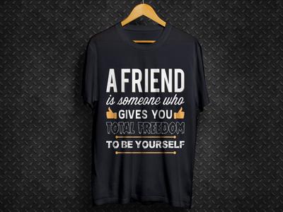 Friendship Day Black T Shirt Design