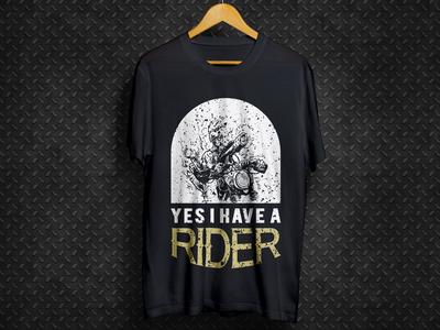 Motor cycle rider T-shirt design