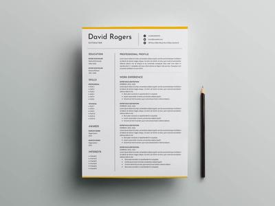 Free Estimator CV/Resume Template freebie free cv free resume free cv template resume free resume template template free freebies