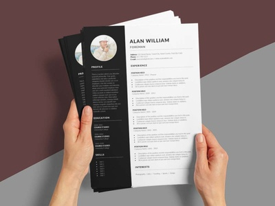 Free Foreman CV/Resume Template free cv free resume resume template free freebies freebie free cv template free resume template