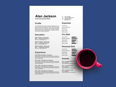 Free General Construction Worker CV/Resume Template design free cv free resume resume template free freebies freebie free cv template free resume template