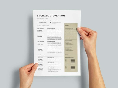 Free Land Surveyor CV/Resume Template design free cv free resume free cv template resume free resume template template free freebies freebie