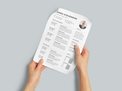 Free Landscape Architect CV/Resume Template design free cv free resume free cv template resume template free freebies freebie free resume template