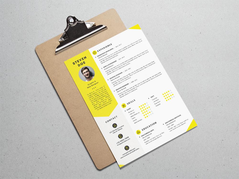 Clean resume cv template free