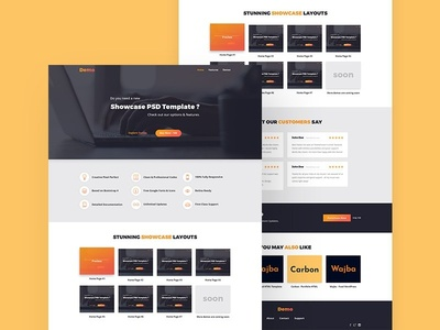 Free Showcase Landing Page Template