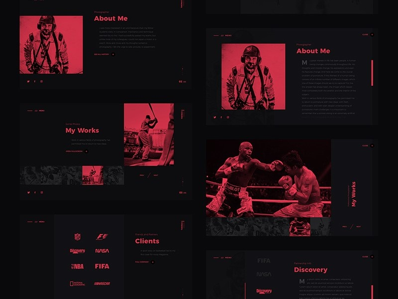 Free Dark Website Template by Andy Khan on Dribbble