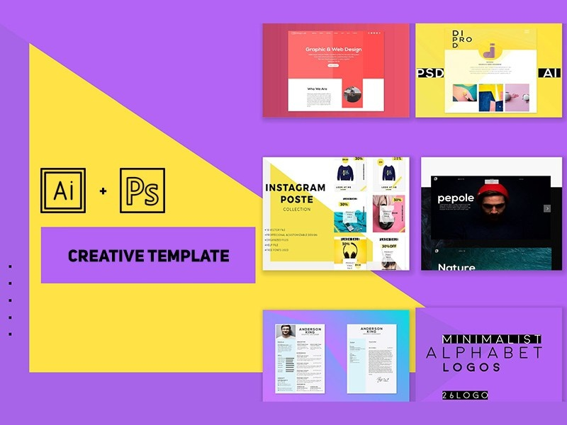 Free Portfolio Templates In Illustrator And Photoshop Ai Freebies Freebie Template Agency