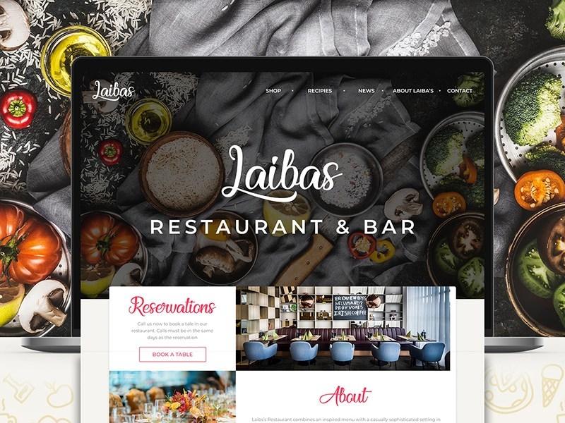 Free Restaurant & Bar Landing Page Template bar website restaurant website bar restaurant template freebies freebie freebie psd photoshop free website psd