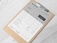 Business Invoice Design Template
