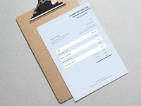 Blue Invoice Template Design