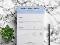 Photography Studio Invoice Template