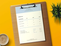 Blue Photography Invoice Template