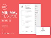 Free Clean Minimal Curriculum Vitae Template