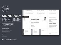 Free Horizontal Resume Template