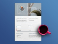 Free Personal CV Template in PSD File Format