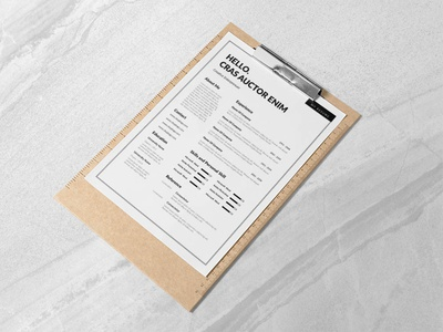 Free Minimal Editable Resume Template