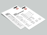 Free Simple Dynamic CV Template