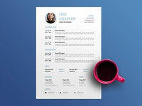 Free Timeline Resume Template with Cover Letter