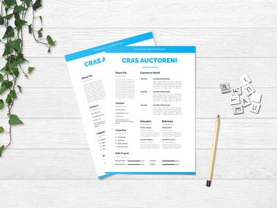 Free Blue Minimal Resume Template